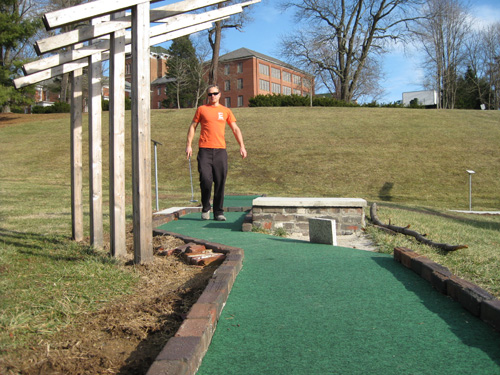Mini  golfing The Ridges Athens Ohio